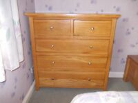 Large oak chest of draws very good condition