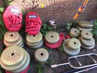 Exercise Weights, Bench & Punch Bag
