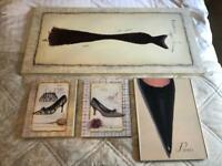 Vintage wall art - collection of 4 designs