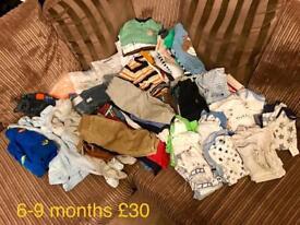 Boys clothes bundles: newborn, 0-3, 3-6, 6-9