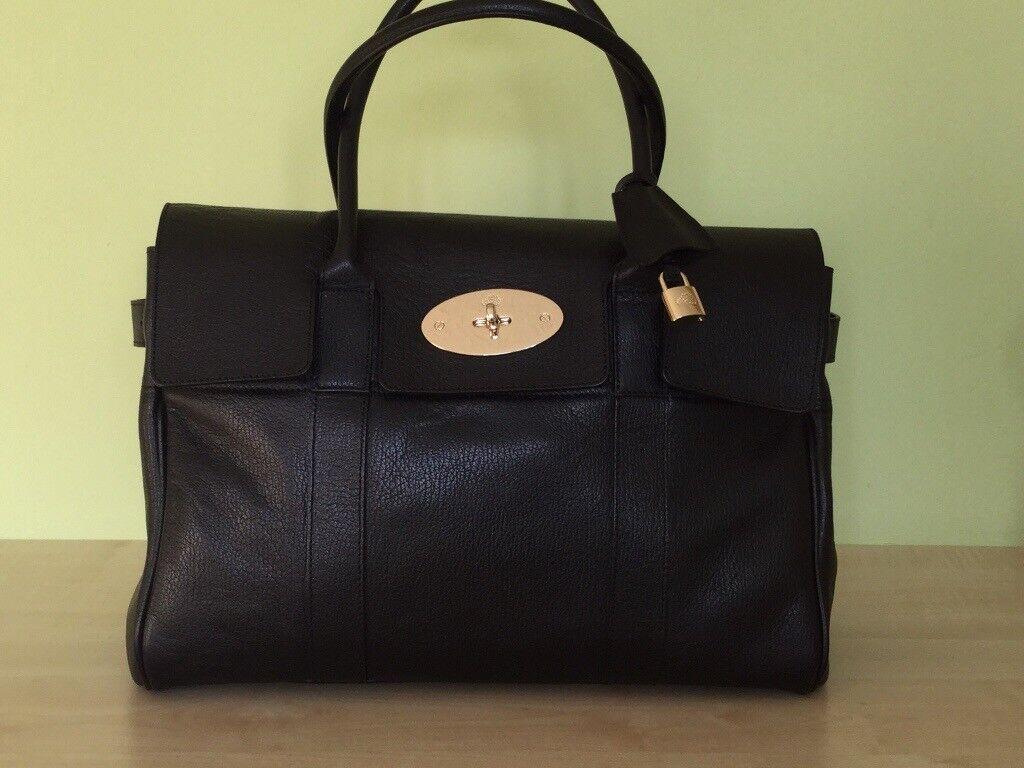 33a7ea1437dc ... denmark genuine original large black mulberry bayswater bag be460 e16e8