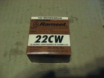 RAMSET 22CW, .22 CALIBER BROWN POWER LOADS, 2 BOX  (AA6854-2)