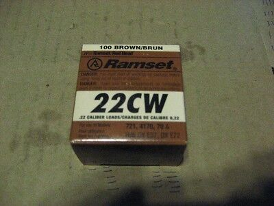 Ramset 22cw .22 Caliber Brown Power Loads 2 Box Aa6854-2