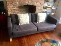 Second Hand blue Ikea 3 Seater Sofa