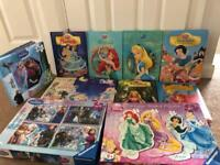 Children's books and jigsaws bundle Disney princess and Frozen
