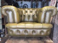 Chesterfield Tub/Club Chair.Leather