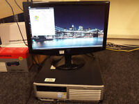 HP Compaq dc7700 desktop with monitor