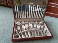 canteen of silver plated cutlery.