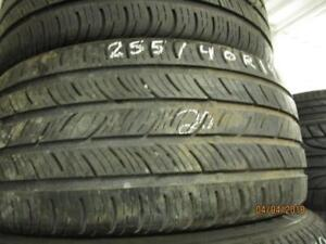 255/40R19 3 ONLY USED CONTINENTAL A/S TIRES