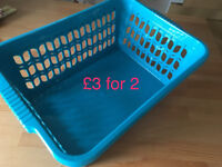 Blue baskets for fruits or vegies £3 for two