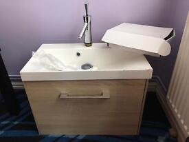 Sink n unit with mixer tap brand new small chip hard to see cost 529 £110
