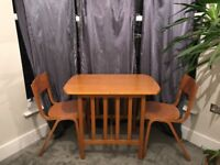 Small dining table & two matching chairs (free to collect)
