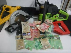$$$ CASH For Power Tools. INSTANT Cash Loans On Power Tools. We Pay Cash On Spot. $$$