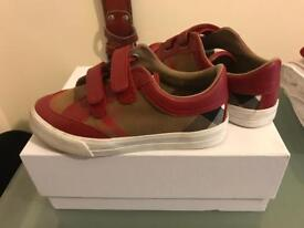 Burberry Kids Parade Red Sneakers