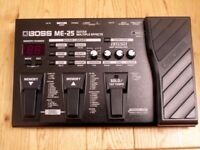 BOSS ME 25 - GREAT QUALITY, ROBUST GUITAR MULTI EFFECTS PEDAL WITH MANUAL - TOTALLY MINT & PERFECT!