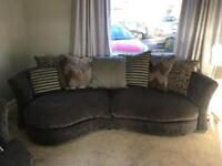 DFS 4 seater sofa & cuddler
