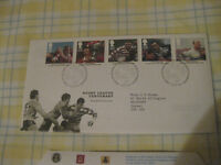 Rugby League Centenary 1995 stamps First Day Cover