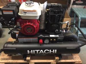 Hitachi 5.5 HP Gas Engine Powered Air Compressor (EC2510E) - REFURBISHED
