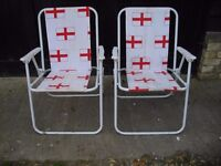 Deck chairs, folding chairs