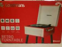 Goodmans retro record player with legs