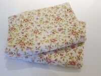 Vintage Shabby Chic Floral Pink and Green Curtains - Lined