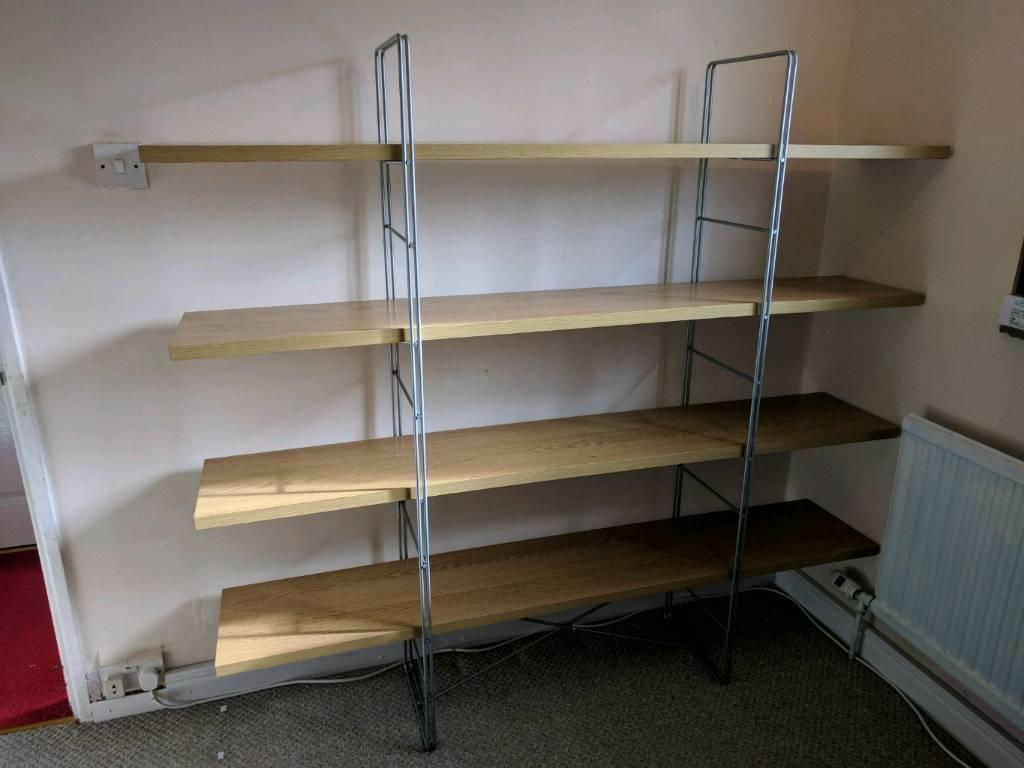IKEA Enetri 4 Tier Oak Shelves