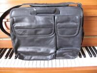 Dell briefcase Black LEATHER top quality