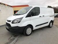 2014 FORD TRANSIT CUSTOM 2.2 6 SPEED 100 BHP UK VAN FULL HISTORY MINT INSIDE AND OUT