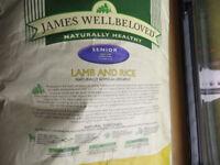 James Wellbeloved Dog Food Senior Lamb And Rice, 15KG, 26/08 Best Before Date