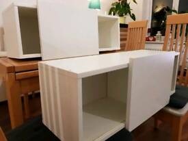 2x Sliding door wall cupboard cabinet