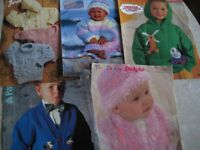 KNITTING PATTERNS - 3months - 8yrs (approx 100)- (Kirkby in Ashfield)