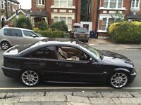 BMW 320 COUPE M SPORT E46 3 SERIES 2003 BLACK LAST SERVICE WAS AT 95K LAST YEAR