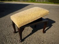 ADJUSTABLE FOOT STOOL - Superior Contruction & Upholstery