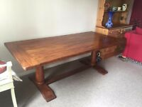 Beautiful Solid Oak Cathedral Table