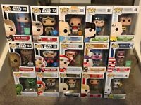 Collection of various funko pops