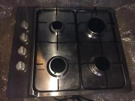 Stainless Steel gas stove with 4 burners & stainless Steel splashback