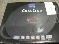 Denby Imperial Blue Cast Iron Oval Casserole 28cm Brand New In Box