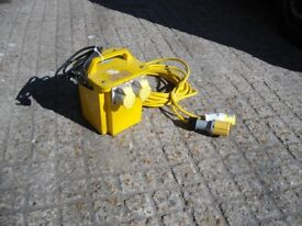 3 KVA 110 Volt Transformer with extension lead