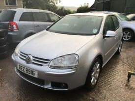2005 VW GOLF 2.0 GT FSI 5DR AUTO, low miles, full MOT, trade in considered, c...