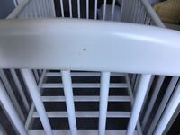 Mothercare baby's cot, some marks but ideal for occasional use.