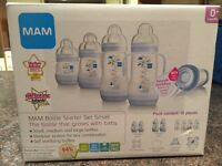 MAM bottle starter kit - small - blue