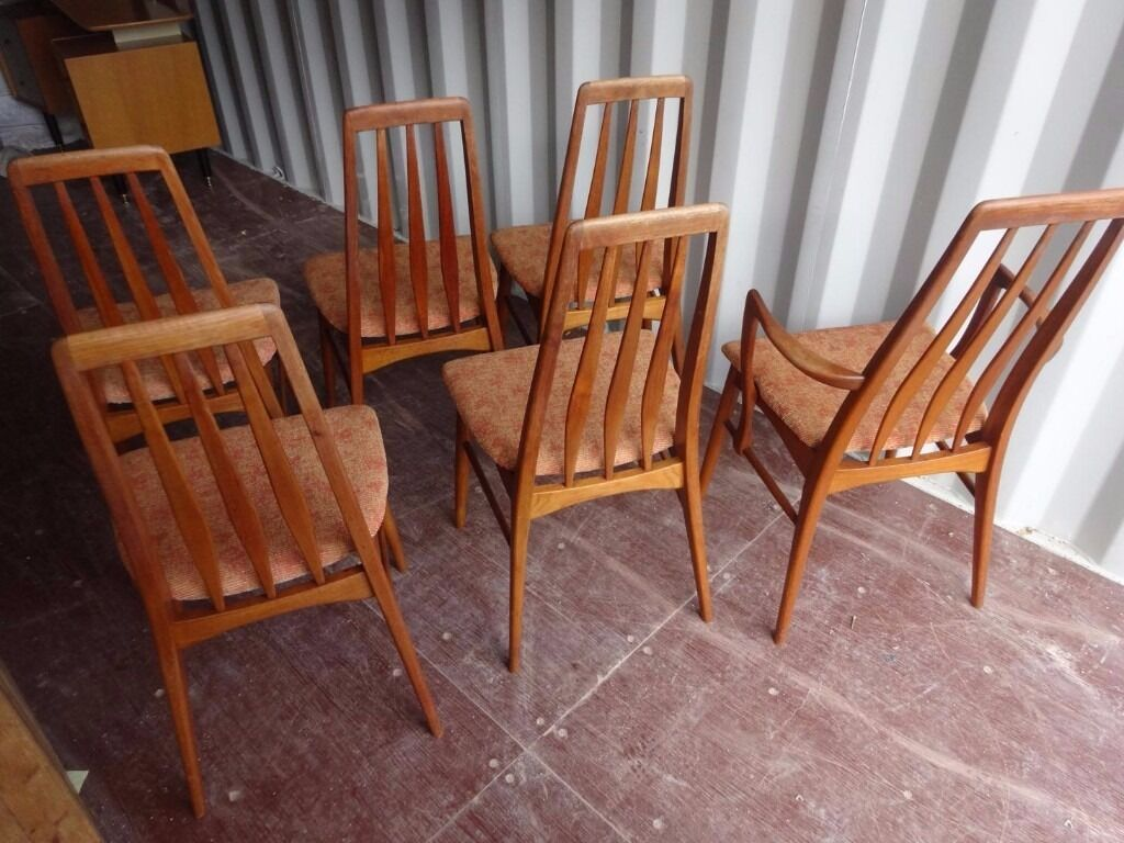 Teak Dining Chairs by Niels Koefoed, Denmark 1960s ,Can Deliver