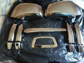 Vauxhall mokka chrome accessories, mirrors.handles.back wiper, tailgate. £50.