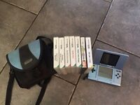 Nintendo DS, Case and 7 Games