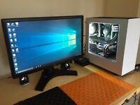 """Extreme Gaming PC x99, i7 5820k @ 4.2 GHz 32GB DDR4 500sd + 1,5TB HDD MATRIX ROG 780ti 27"""" LCD"""