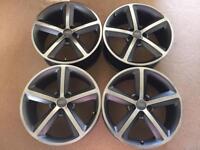 "Genuine 18"" Audi S line alloy wheels. Custom painted."