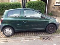 YARIS D4D, 2002, MOT AND TAX, STARTS AND DRIVES, VERY GOOD ENGINE AND GEARBOX, JVC MP3 CD PLAYER