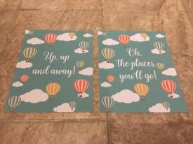 "2 x nursery prints (8x10"")"