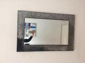 Gorgeous crackle edged mirror