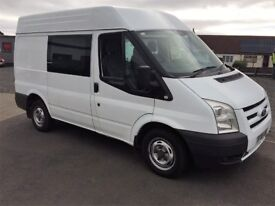 2008 Ford Transit T280 SWB 110 HP Semi Hi Top Crew Van